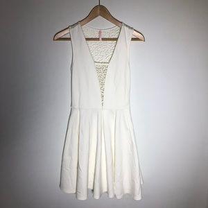 Lulu's White Lace Flare Dress